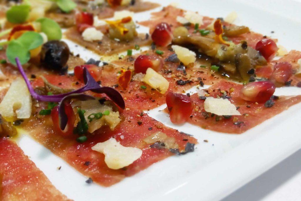 Sashimi fino de atún del Restaurante Balandro