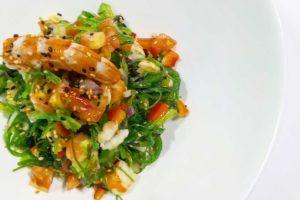 Wakame y gambones - Restaurante Balandro