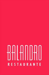 Logotipo Restaurante Balandro alto en rojo