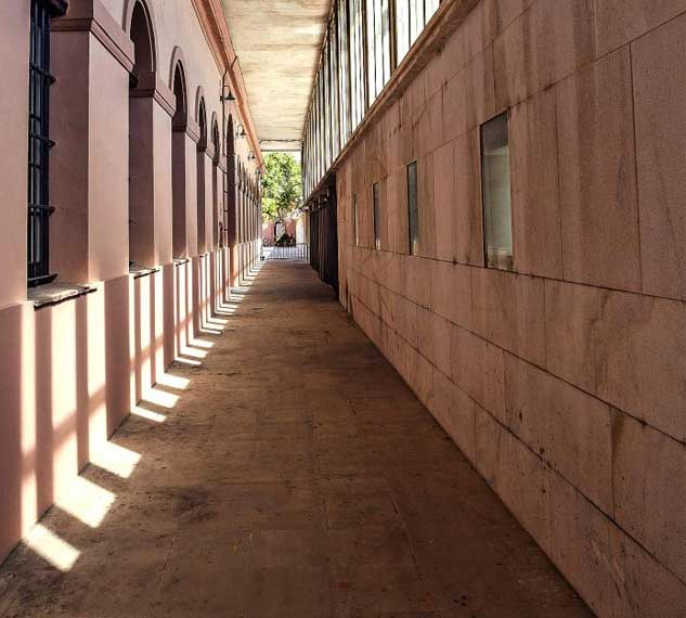 Pasillo del Baluarte de la Candelaria - Restaurante Balandro