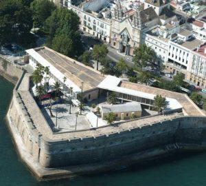 Vista aérea del Baluarte de la Candelaria - Restaurante Balandro