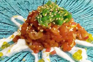 Tartar de atún con wakame - Restaurante Balandro