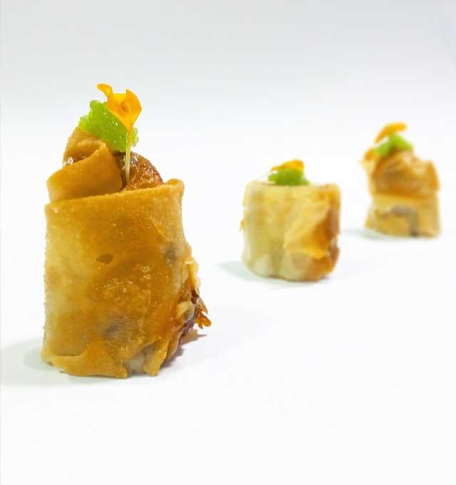 Rollitos de Lubina - Restaurante Balandro