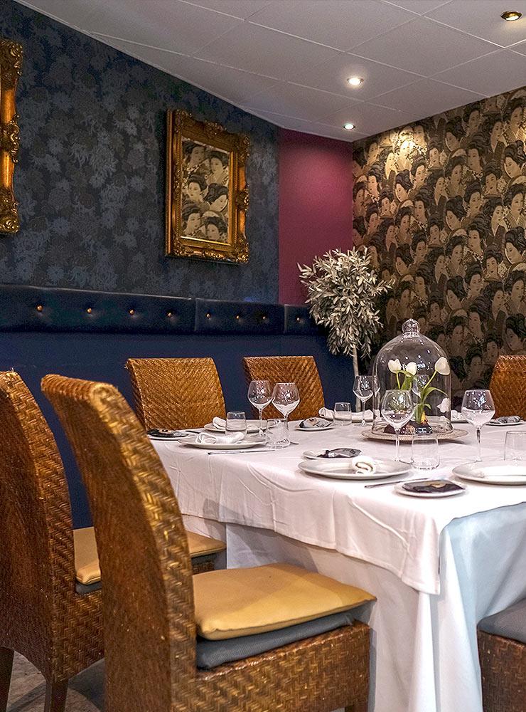 Mesa de grupo en Salón Alameda - Restaurante Balandro