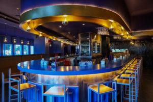 Esquina circular de la barra de Restaurante Balandro