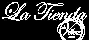 Logotipo de la Tienda de Vélez en blanco