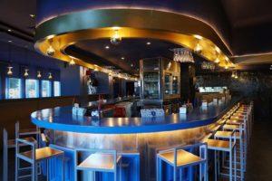 Esquina circular de la barra del Restaurante Balandro
