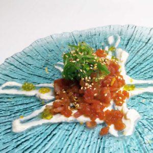 Estrellado de Tartar de atún con wasabi - Restaurante Balandro