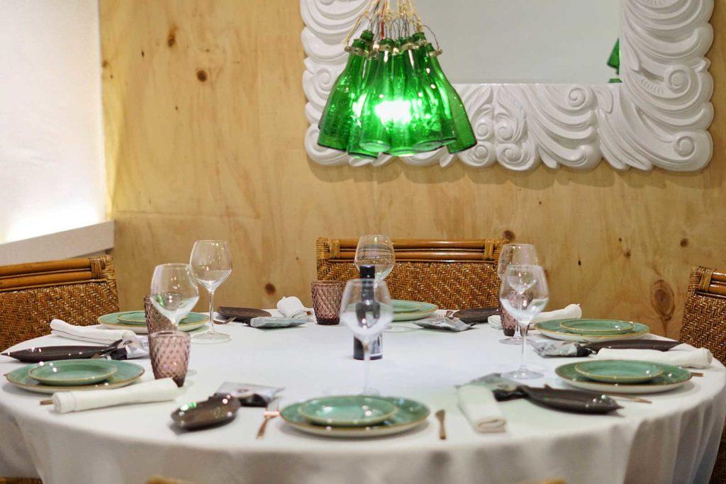 Mesa de grupo del Salón Apodaca - Restaurante Balandro