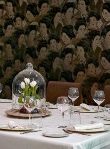 Detalle de Mesa de grupo en Salón Alameda - Restaurante Balandro